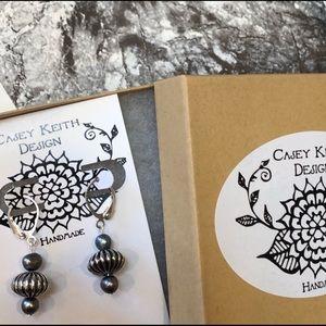 Casey Keith Design Jewelry - Pearled Corrugated Globe Earring